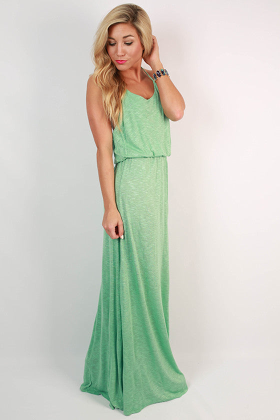 Oh Sweet Sunshine Jersey Maxi in Mint