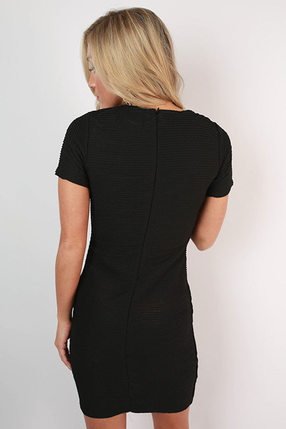 Fit Me Beautiful Bodycon Dress in Black