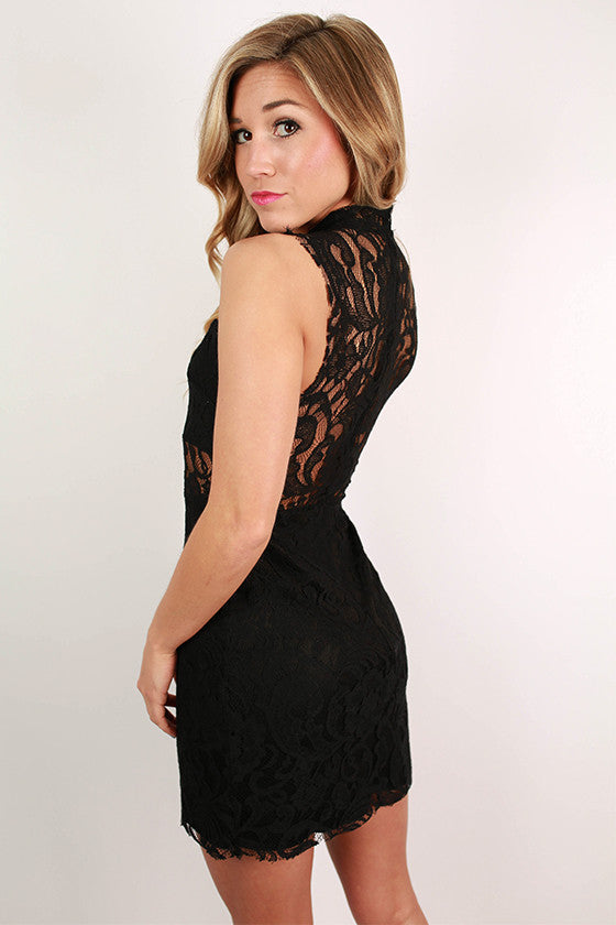 Life Is Good Lace Dress in Black