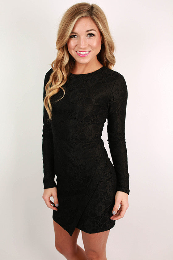 High Society Lace Dress in Black