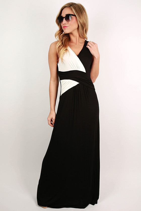 For The Thrill of It Maxi Dress in Black