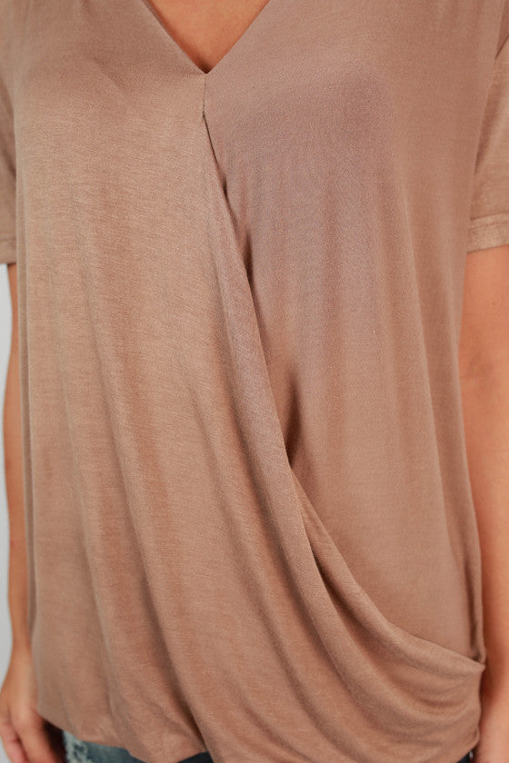 NY Fashion Week Top in Taupe