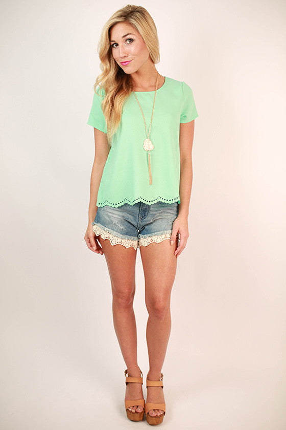 Take My Breath Away Top in Mint