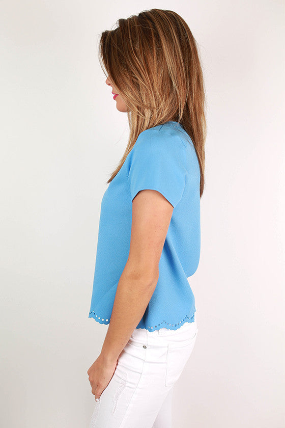 Take My Breath Away Top in Sky Blue
