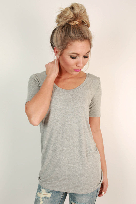 Fashionable & Fun Top in Grey