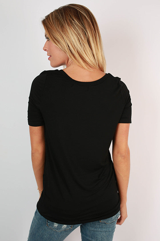 Fashionable & Fun Top in Black