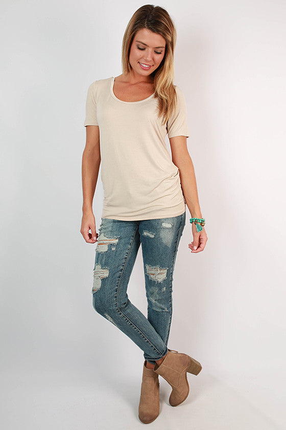 Fashionable & Fun Top in Stone