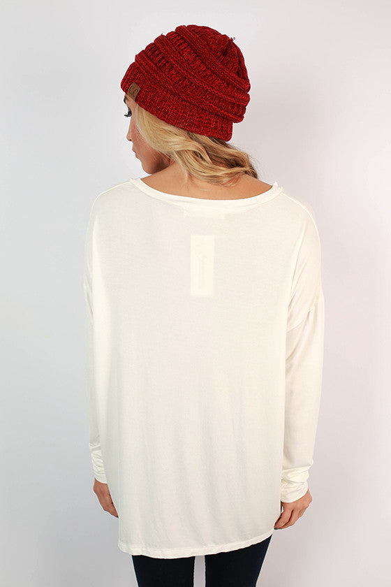 Wanna Be Like Me Top in Ivory