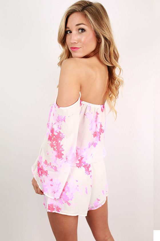 Sightseeing in Paris Romper in Pink