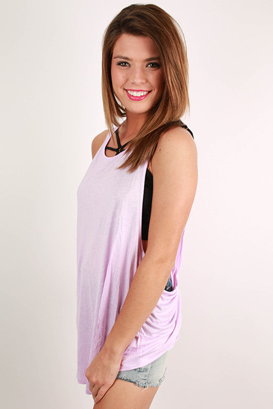 Happy, Go Lucky Top in Lavender