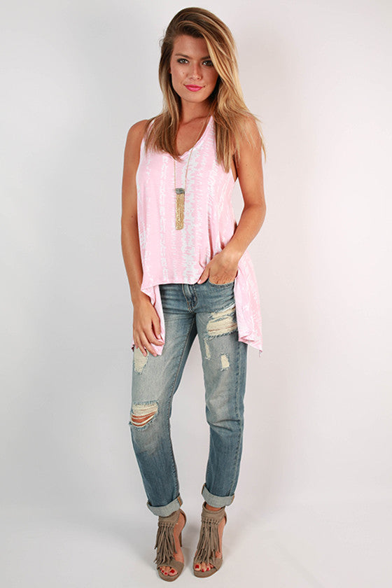 Napa Valley Tank Top in Light Pink