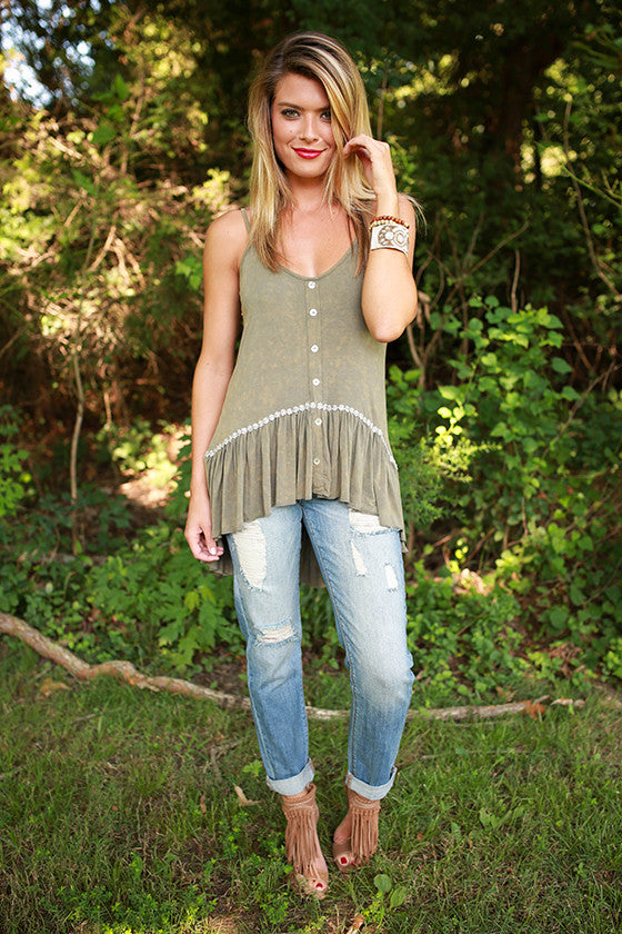 Cali Cutie Top in Olive