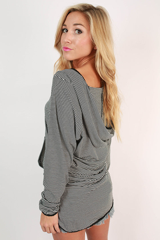 Instant Attraction Tunic in Black