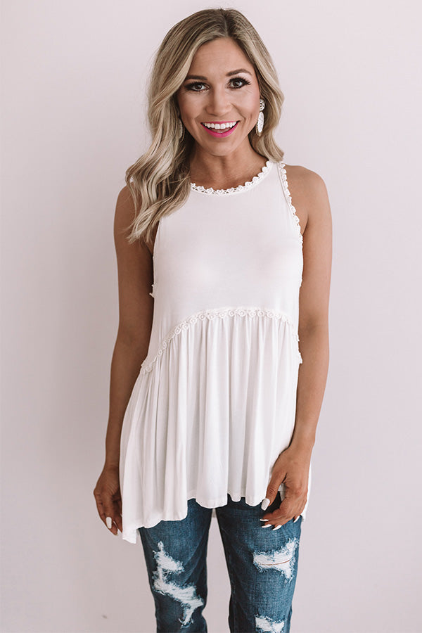 Fashion Queen Tank Top in Ivory