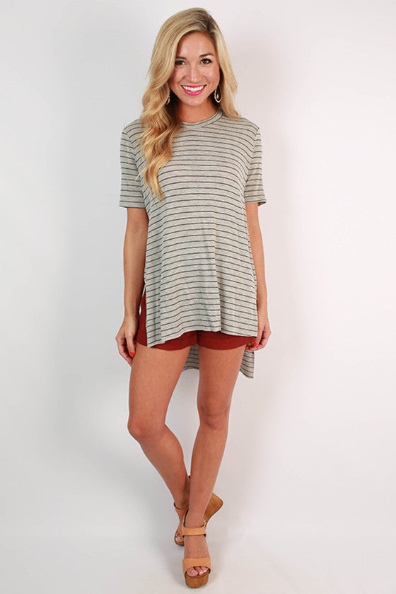 Take Me to the Vineyard Tunic in Grey