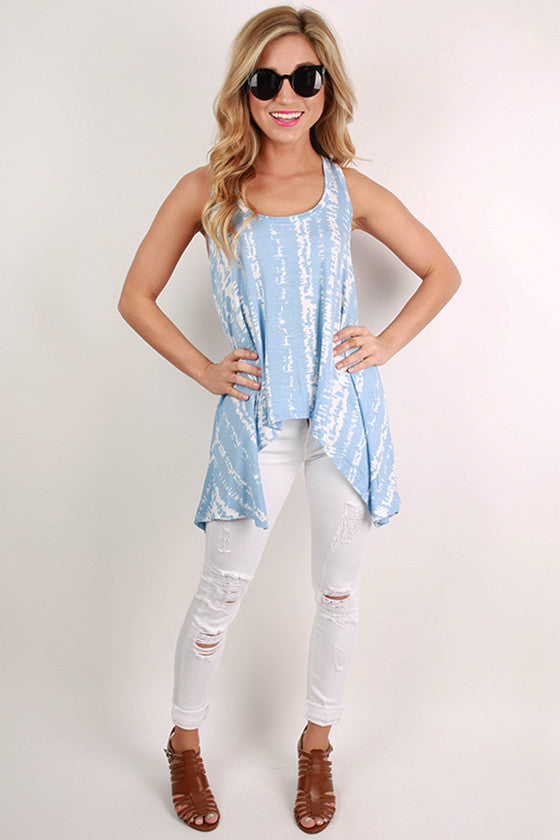 Napa Valley Tank Top in Sky Blue