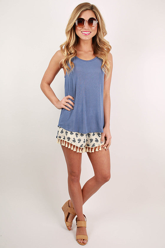 Dreaming of Summer Tank in Periwinkle