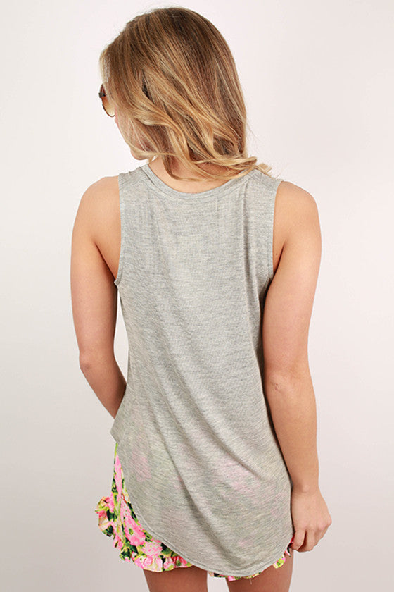 Dreaming of Summer Tank in Grey