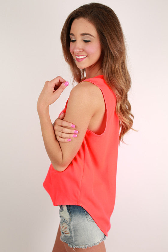 Style in Sydney Top in Neon Coral
