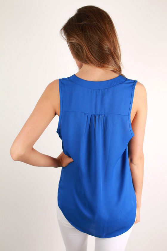 Style in Sydney Top in Royal Blue