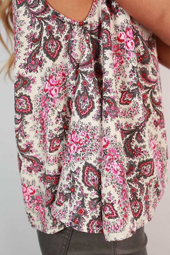 Paisley Parisian Top in White