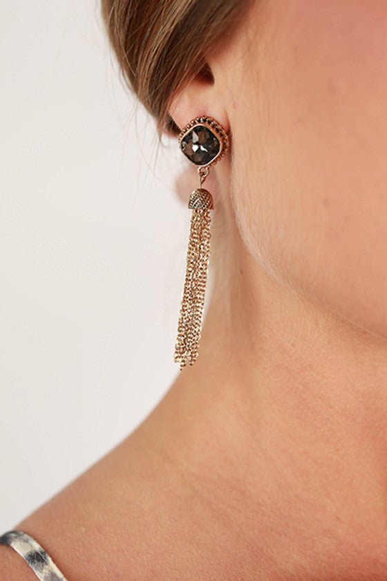 Glam Life Earrings in Black