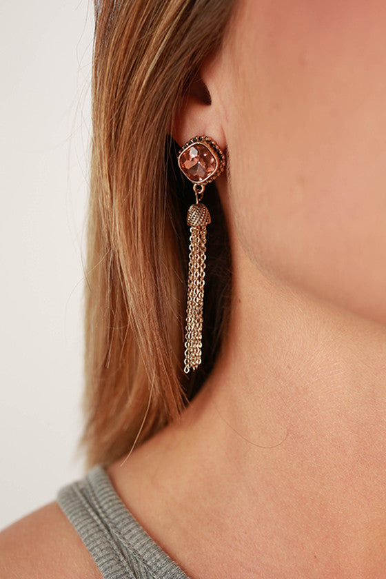 Glam Life Earrings in Pink