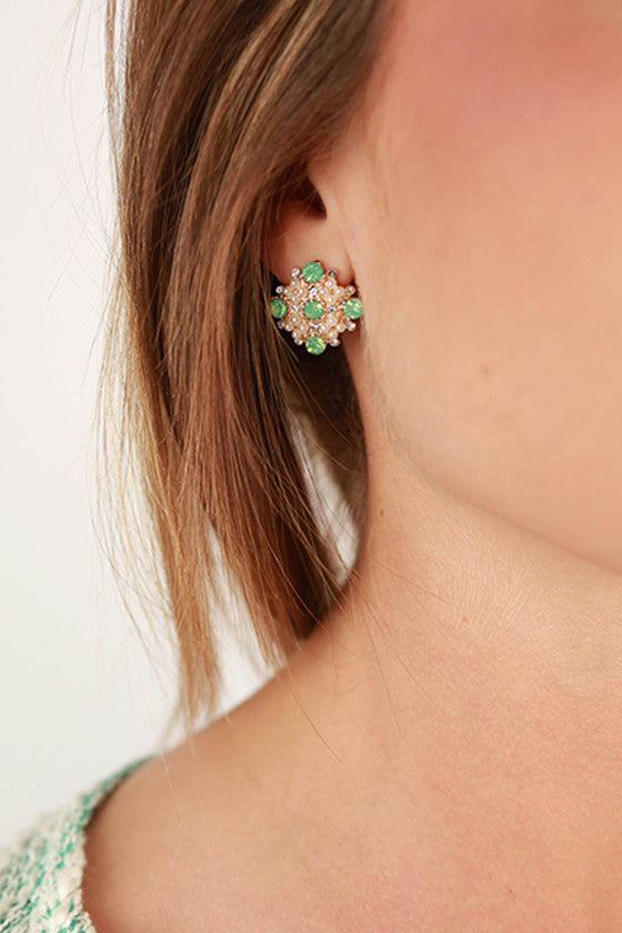 Always Classy Earrings in Green