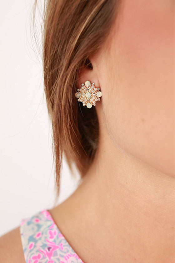 Always Classy Earrings in White