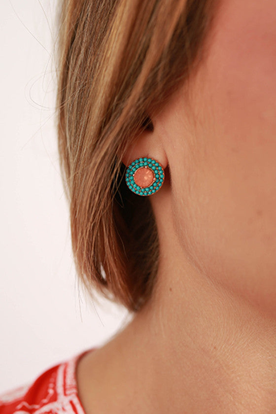 Daydream Believer Earrings in Turquoise