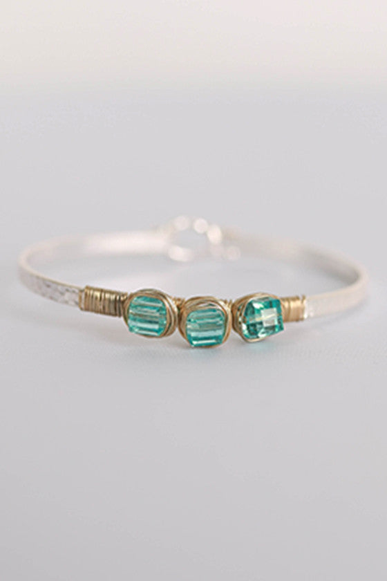 Jewels For Days Bracelet in Aqua