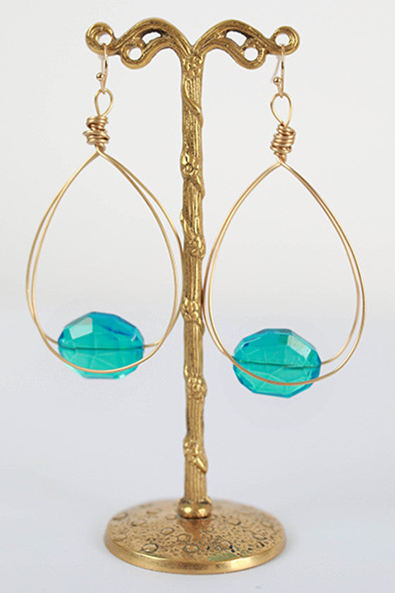 Fancy Flair Earrings in Aqua