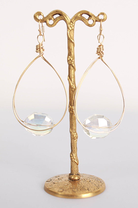 Fancy Flair Earrings in Clear