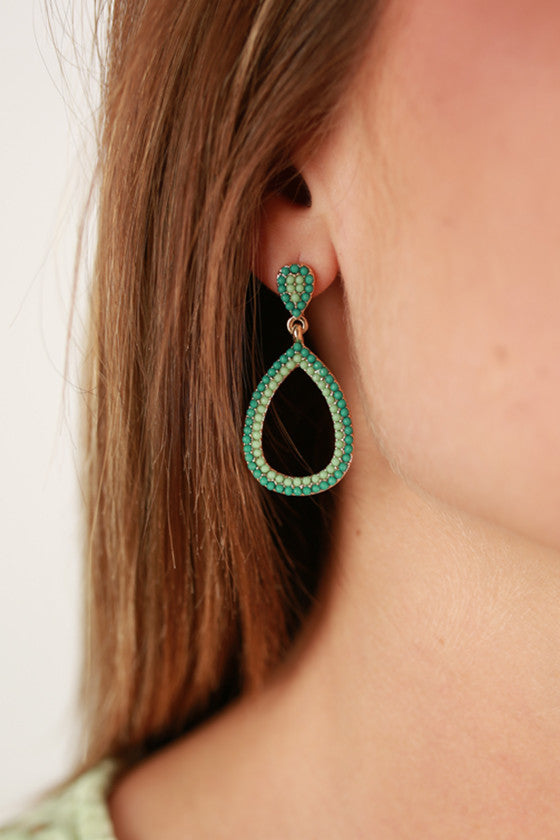 Tea With Royalty Earrings in Mint