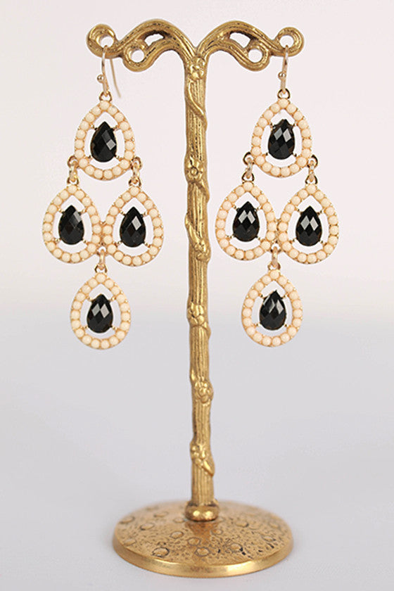Breakfast at Tiffany's Earrings in Cream