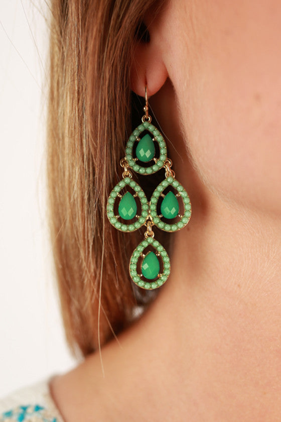 Breakfast at Tiffany's Earrings in Mint