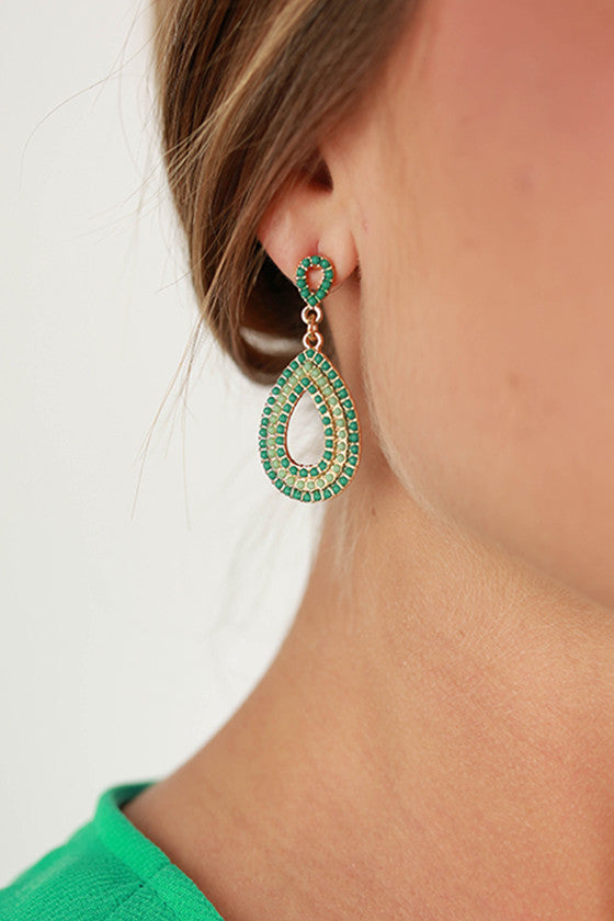Modern Love Earrings in Mint