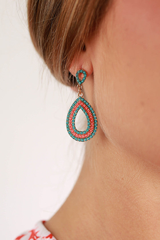 Modern Love Earrings in Teal