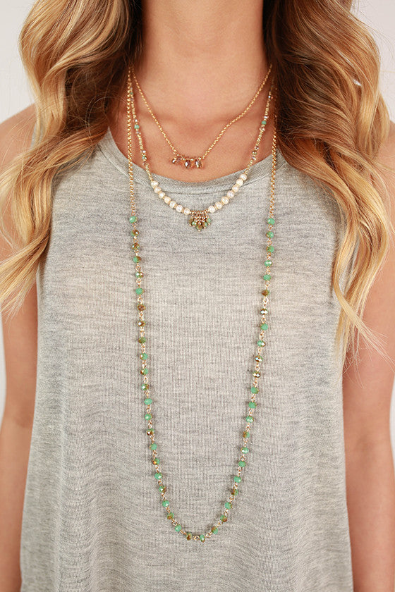 The Goldie Necklace in Turquoise