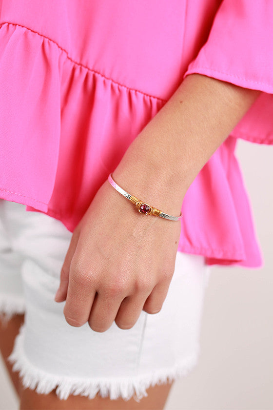 All You Need is Love Bracelet in Fuchsia