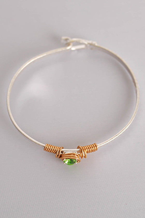 All You Need is Love Bracelet in Green
