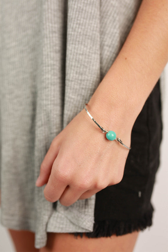 Works Like a Charm Bracelet in Silver/Turquoise