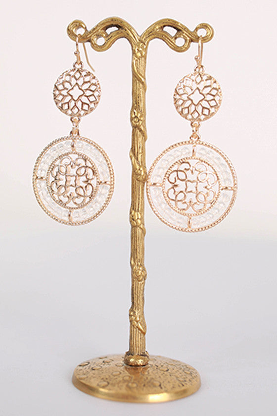 Glitz & Gold Earrings in Gold