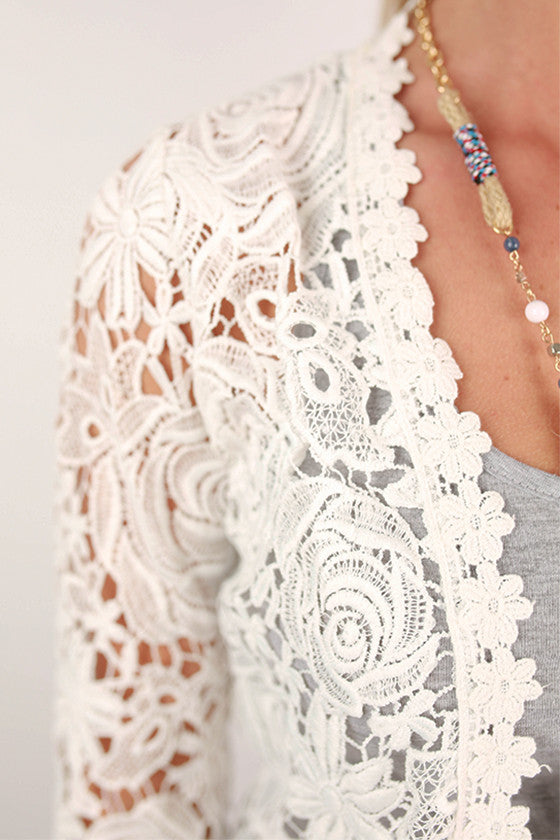 Breezy Beautiful Overlay in White