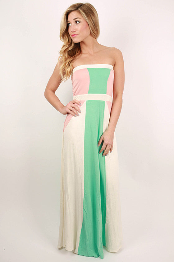 West Coast Dreaming Maxi Dress in Ivory