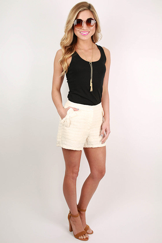 Patio Season Shorts in Ivory
