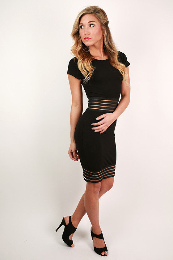 Soho Sunrise Dress in Black