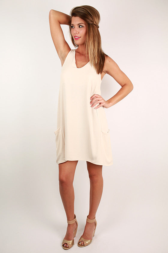 Beauty To Be Seen Dress in Oatmeal