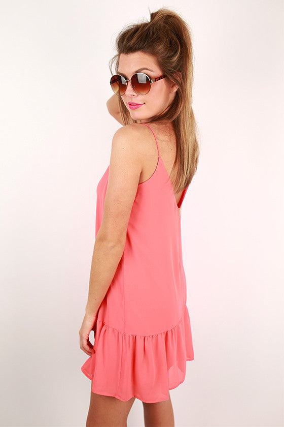 Everyday Lovely Tunic in Coral