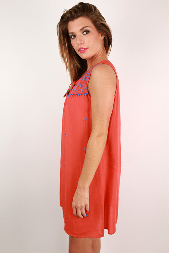Beauty Queen Shift Dress in Orange